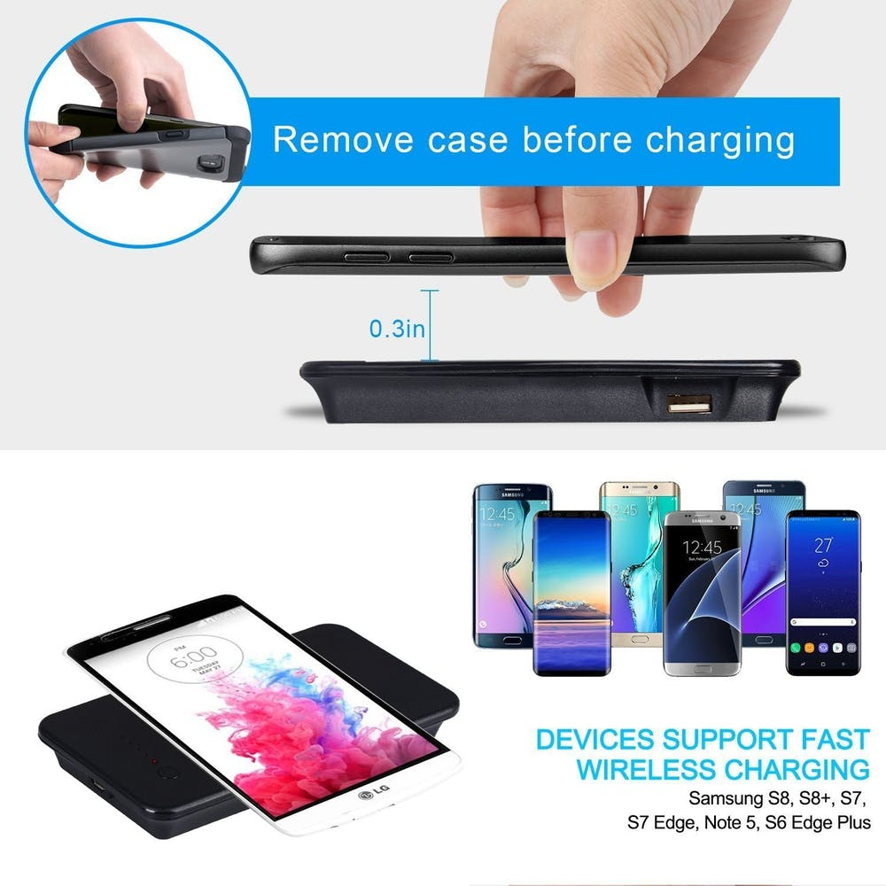 qi 9000mah qi wireless smartphone power bank charger larry 39 s life. Black Bedroom Furniture Sets. Home Design Ideas