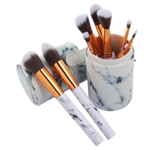 cylinder-marble-makeup-brushes-blush-powder