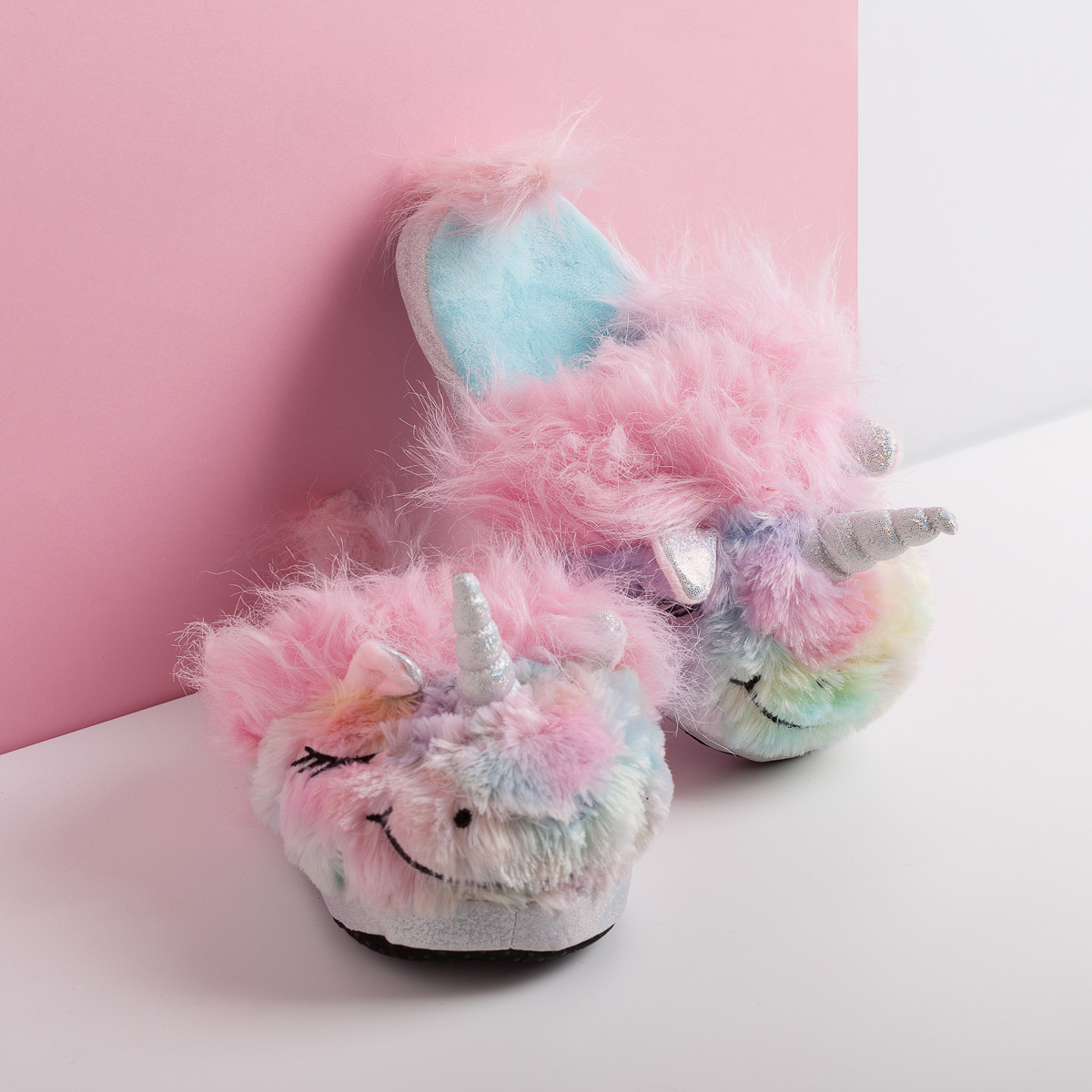 Larry's Plush Unicorn Slippers